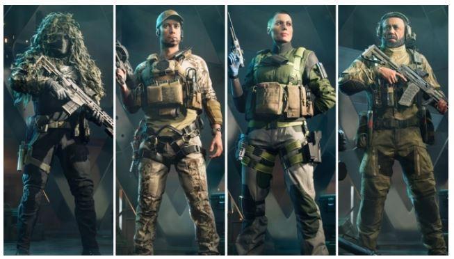 "Empat Specialist dari kiri Wikus ""Casper"" Van Daele, Webster Mackay, Maria Flack, Pyotr ""Boris"" Guskovsky. (Electronic Arts)"