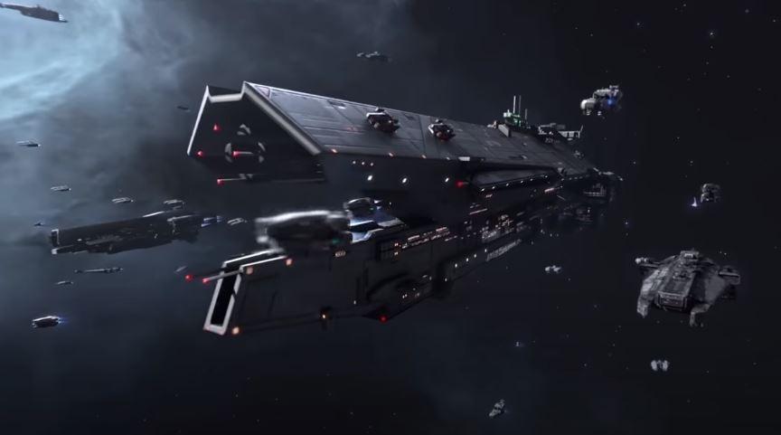 Kapal perang luar angkasa dari Infinite Lagrange. (YouTube/ Infinite Lagrange)
