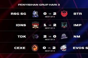 Penyisihan Grup Day 3 atau babak play in 09 Juni 2021. (MSC Mobile Legends)