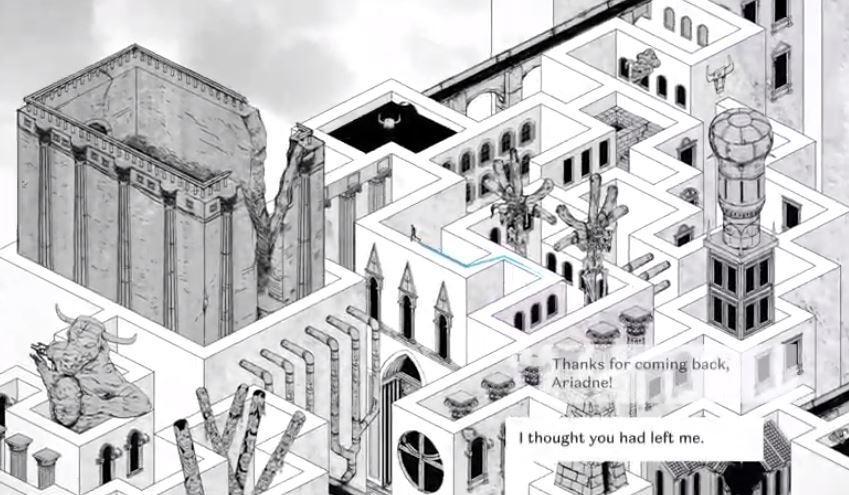 Unmaze menyediakan labirin sebagai teka-teki. (Unmaze)