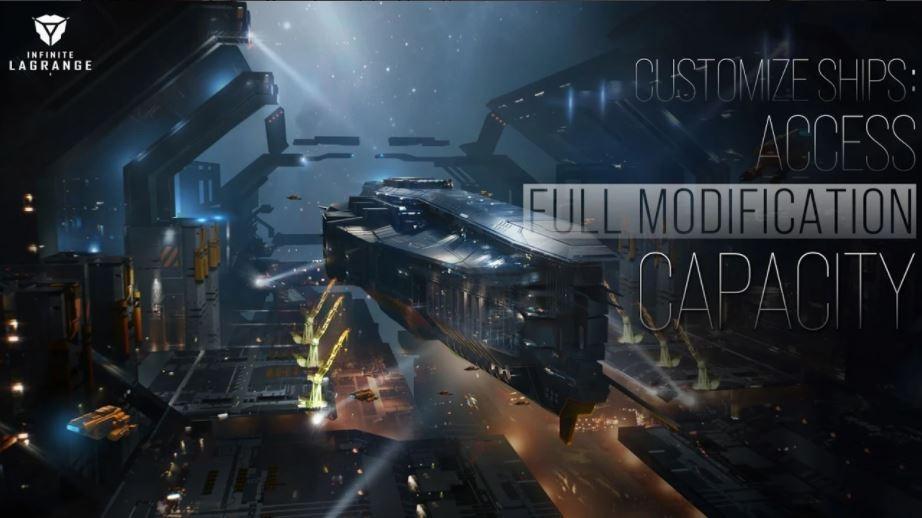 Salah satu kapal luar angkasa dari Infinite Lagrange. (Play Store)