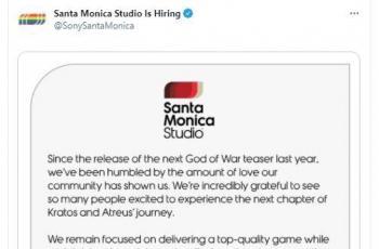 Perilisan God of War ditunda hingga tahun 2022. (Twitter/ SonySantaMonica)