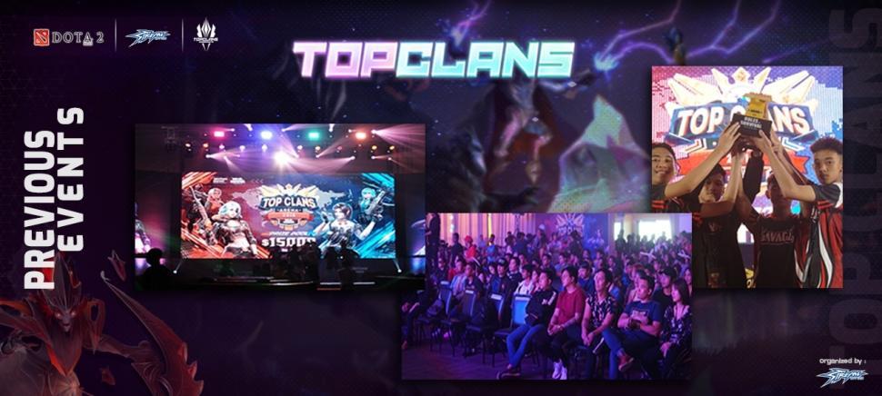Gelaran turnamen Esports Top Clans sebelumnya. (streamgaming)