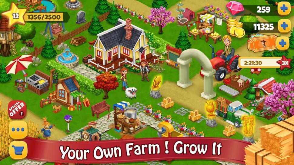 Farm Day Village Farming: Offline Games. (Google Play Store)