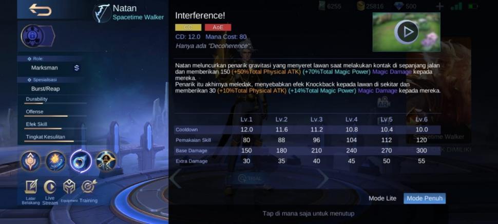 Skill Natan Mobile Legends. (HiTekno)