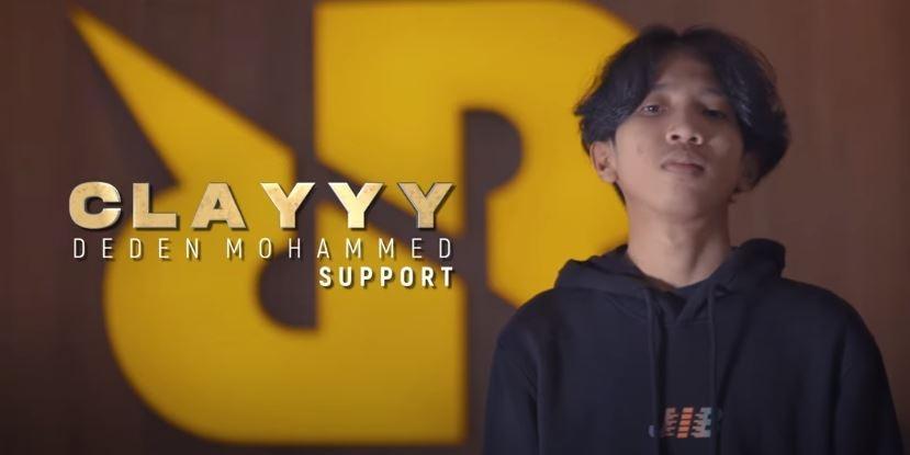 RRQ Clay siap menjadi roster di MPL Indonesia Season 8. (YouTube/ Team RRQ)