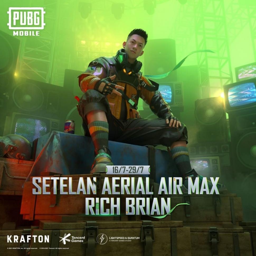 Skin Rich Brian di PUBG Mobile. (PUBG Mobile)