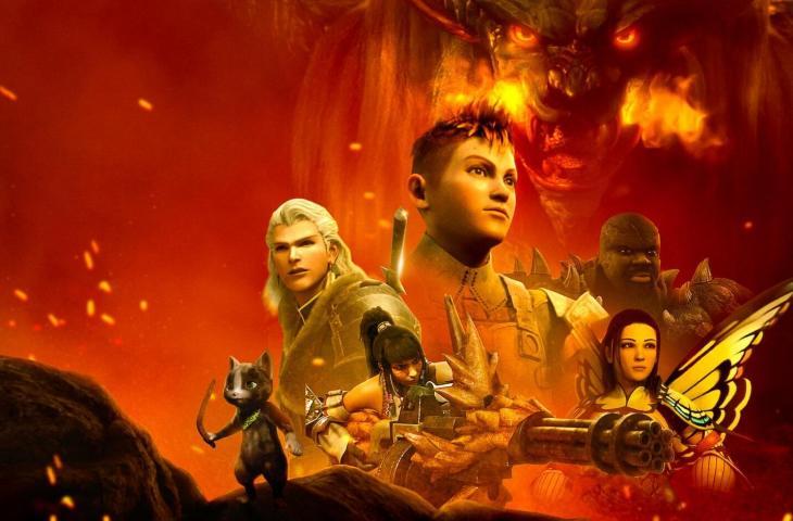 Film Animasi Monster Hunter: Legend of the Guild. (Netflix)