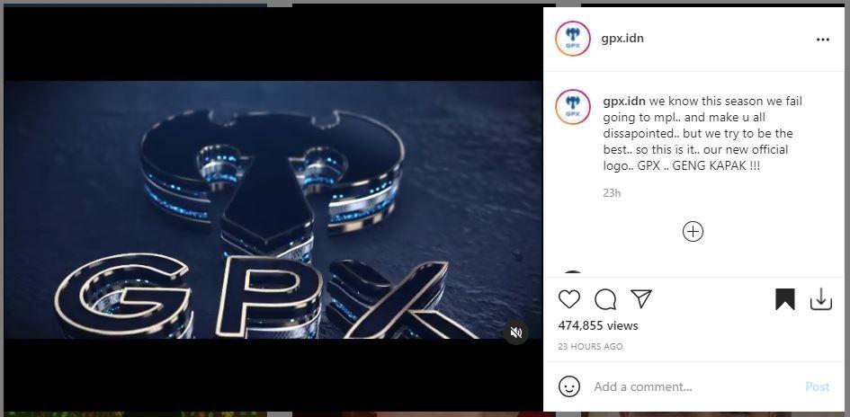 Tim eSports Geng Kapak luncurkan logo baru. (Instagram/ @gpx.idn)