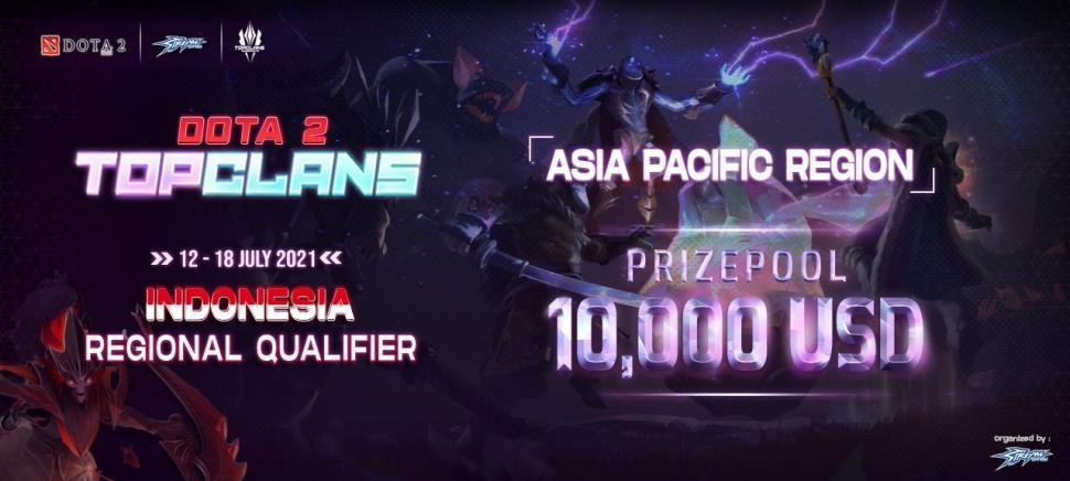 Pendaftara Top Clans 2021 Dota 2 Region Indonesia Dibuka. (streamgaming)